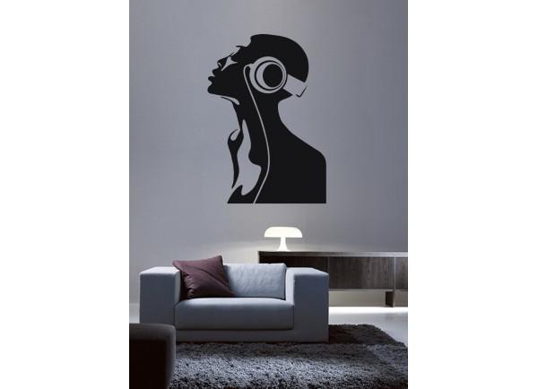 stickers Femme et écouteur
