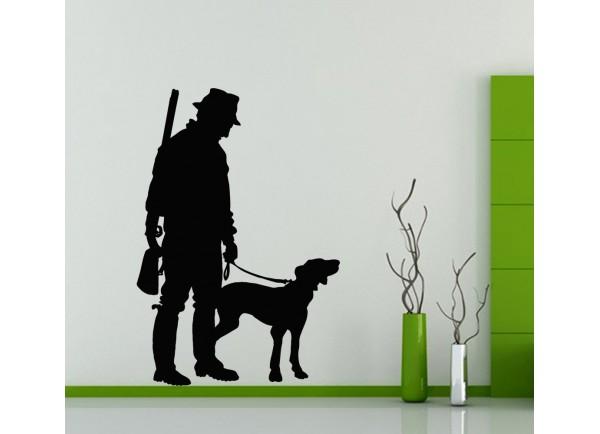 stickers Chasseur et chien