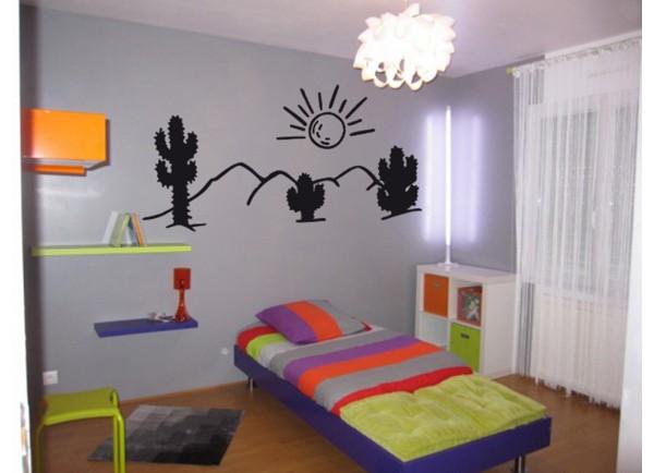 Stickers Paysage cactus