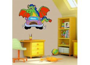 stickers dragon en voiture
