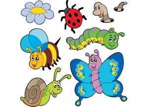 Stickers les animaux du jardin