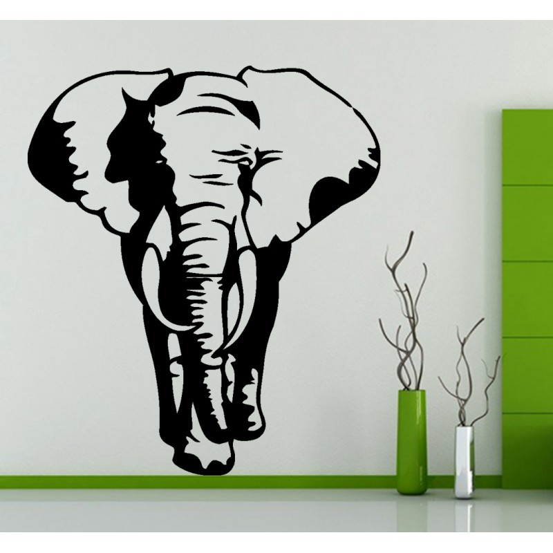 D coration murale elephant stickers elephant animal sauvage for Decoration murale elephant