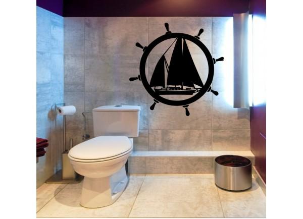 Stickers barre a roue et bateau
