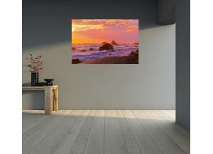Stickers paysage mer et couché de soleil