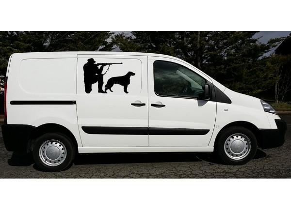 Stickers chasseur et son chien