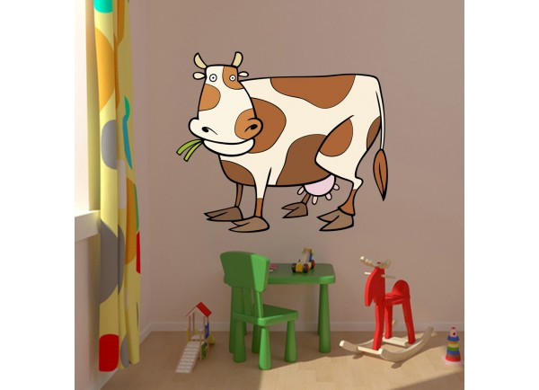 Stickers vache marron