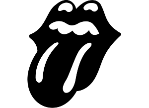 Stickers langue rolling stones