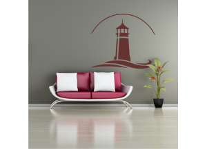Stickers Phare breton vague
