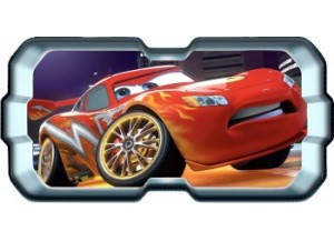 Stickers trompe l'oeil hublot 3D Cars Flash Mac Queen