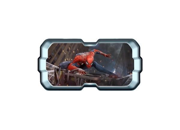 Stickers trompe l'oeil hublot 3D Spiderman