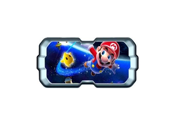 Stickers trompe l'oeil hublot 3D Mario galaxy