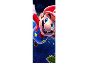 Sticker pour porte Mario galaxy