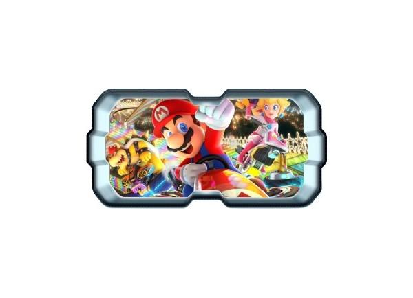 Stickers trompe l'oeil hublot 3D Mario Kart