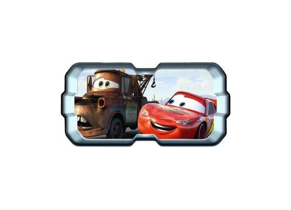 Stickers trompe l'oeil hublot 3D Cars