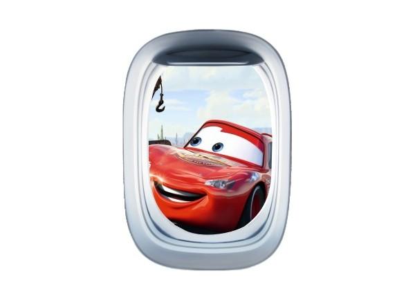 Stickers trompe l'oeil hublot avion Cars