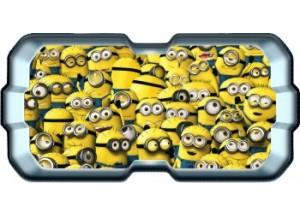 Stickers trompe l'oeil hublot 3D Les Minions