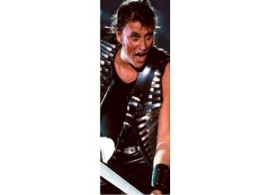 Sticker pour porte Johnny Hallyday Rock