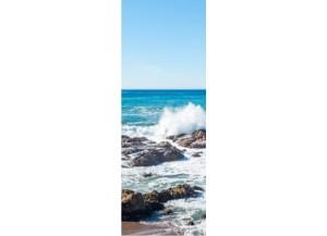 Sticker pour porte rocher mer de Bretagne