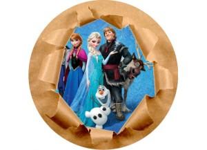 Stickers trompe l'oeil mur papier déchiré Reine des neiges