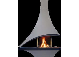 Stickers sticker cheminée moderne