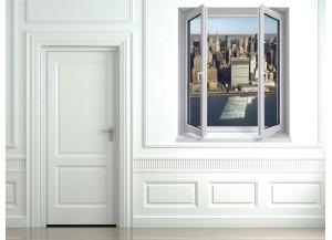 Stickers trompe l'oeil fenêtre New York