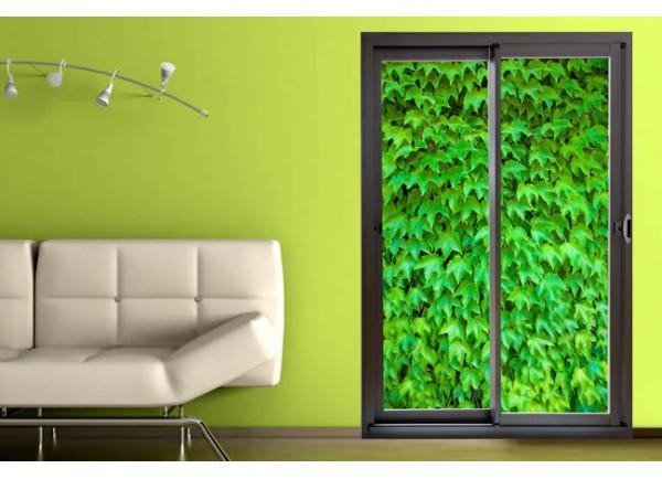 d coration murale trompe l 39 oeil de baie vitr e et mur de. Black Bedroom Furniture Sets. Home Design Ideas